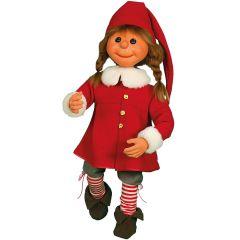 Puppet Girl Santa - standing on one leg