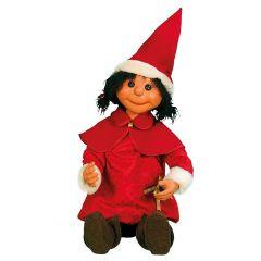 Puppet Girl Santa - sitting