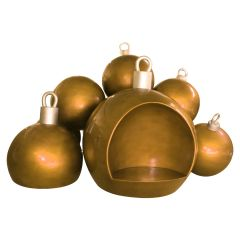 Christmas Ball stack w/seat - Gold