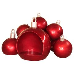 Christmas Ball stack w/seat - RED