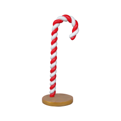 Candy cane 200cm White/red