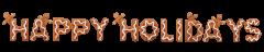 Happy Hollidays Gingerbread Men