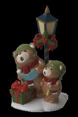 Singing Teddybears on Lightpost