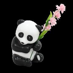 Panda Cub with Flower