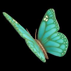 Big Cyan Butterfly