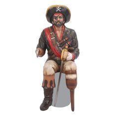 Sitting Captain Hook Statue