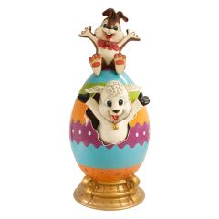 Easter Egg with Lamb and Bunny
