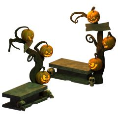 Halloween Tree bench