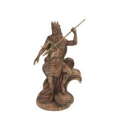 Fiberglass statue of Neptune.