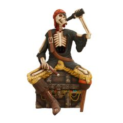 Skeleton Pirate on a Treasure Chest