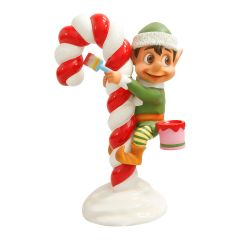 Santas elf Painting Candy cane