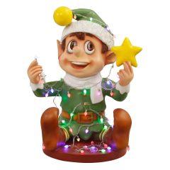 Santa Elf Playing with lights