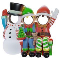 Snowman and friends photo op