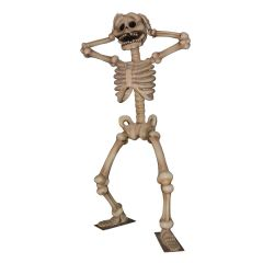 Giant Scared Skeleton Statue