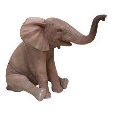Sitting Elephant Statue