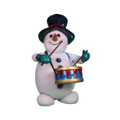 Snowman With Drum Statue