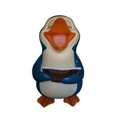 Squeek The Penguin Singing Statue