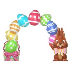 Easter egg w/bunny archway
