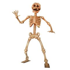 Giant Waving Skeleton Statue