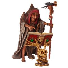 Witch With Horror Book Statue